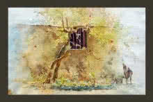 Goat | Painting by artist Swapnil Mhapankar | watercolor | Handmade Paper