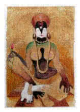 Mahesh Pal Gobra | Acrylic Painting title The Form IX on paper | Artist Mahesh Pal Gobra Gallery | ArtZolo.com