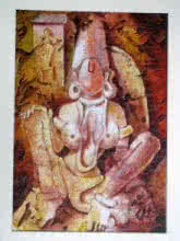 Figurative Acrylic Art Painting title The Form of Sculpture VIII by artist Mahesh Pal Gobra