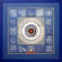Meditation 4 | Painting by artist Nilesh Nikam | Acrylic | Canvas