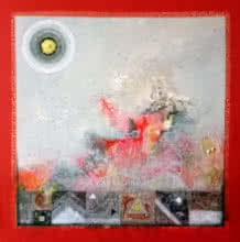 Nilesh Nikam | Acrylic Painting title Meditation 79 on Canvas | Artist Nilesh Nikam Gallery | ArtZolo.com