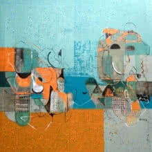 Untitled 6 | Painting by artist Vivek Nimbolkar | acrylic | Canvas