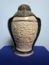 Budhha Pot Back | Ceramic by artist DULAL CHANDRA MANNA | Ceramic