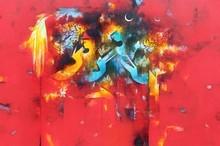 Figurative Acrylic Art Painting title Uma Pati 1 by artist Amol Pawar