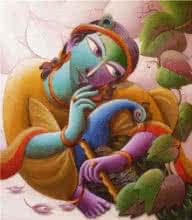 Mayavi 6 | Painting by artist Dhananjay Mukherjee | acrylic | Canvas