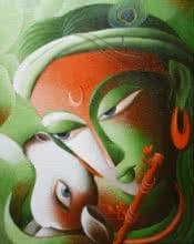 Mayavi 7 | Painting by artist Dhananjay Mukherjee | acrylic | Canvas