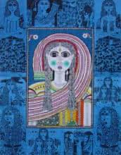 Figurative Acrylic Art Painting title 'Anusha' by artist Ravi Kattakuri