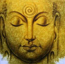 Buddha   Painting by artist Prince  Chand   acrylic   Canvas