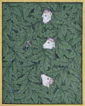 Traditional Indian art title Pichwai 5 on Cotton Cloth - Pichwai Paintings