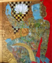 Lord Vishu | Painting by artist Ramesh Gorjala | acrylic | Canvas