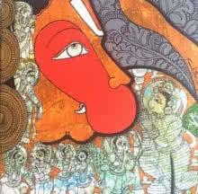 Hanuman | Painting by artist Ramesh Gorjala | acrylic | Canvas