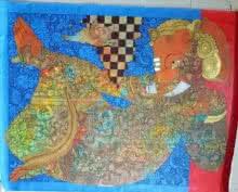 Religious Acrylic Art Painting title 'Ganesha' by artist Ramesh Gorjala