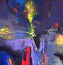Pradip Sengupta | Acrylic Painting title Untitled 4 on Canvas | Artist Pradip Sengupta Gallery | ArtZolo.com