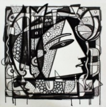 Untitled 13 | Drawing by artist Girish Adannavar |  | ink | Canvas