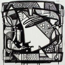 Untitled 9 | Drawing by artist Girish Adannavar |  | ink | Canvas