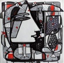 Untitled 7 | Drawing by artist Girish Adannavar | | ink | Canvas
