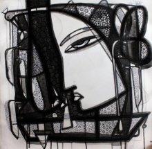 Untitled 5 | Drawing by artist Girish Adannavar | | ink | Canvas