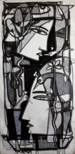 Untitled | Drawing by artist Girish Adannavar |  | ink | Canvas