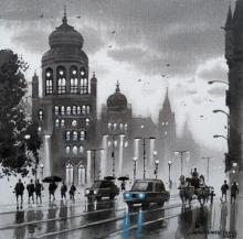 Cityscape Acrylic Art Painting title 'Mumbai Series 10' by artist NanaSaheb Yeole