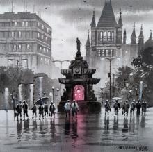 Cityscape Acrylic Art Painting title 'Mumbai Series 11' by artist NanaSaheb Yeole