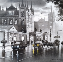 Cityscape Acrylic Art Painting title 'Mumbai Series 2' by artist NanaSaheb Yeole