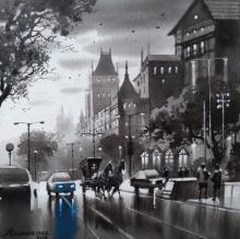 Cityscape Acrylic Art Painting title 'Mumbai Series 3' by artist NanaSaheb Yeole