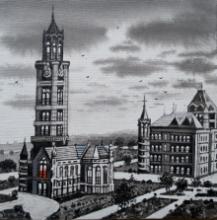 Cityscape Acrylic Art Painting title 'Mumbai Series 8' by artist NanaSaheb Yeole