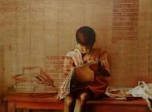 8 Vidyardhi   Painting by artist RAMA REDDY   oil   Canvas