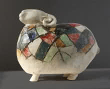 Ceramics Sculpture titled 'Sheep' by artist MAHESH ANJARLEKAR