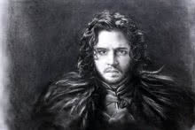 Jon Snow | Drawing by artist Sundeep Kumar |  | charcoal | Paper