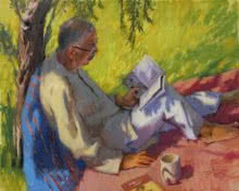 Reader | Painting by artist Snehal Page | oil | Canvas