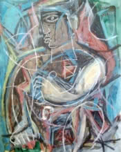 Jitendra Suralkar | Mixed-media Painting title Abstract 4 on Paper | Artist Jitendra Suralkar Gallery | ArtZolo.com