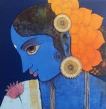 Lady | Painting by artist Sachin Kharat | acrylic | Canvas