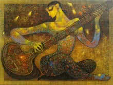 Music | Painting by artist Ramesh Gujar | acrylic | Canvas