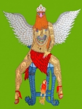 Bird Queen   Painting by artist Bandana Kumari   acrylic   Canvas