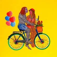 Chand Ke Paar Chalo | Painting by artist Bandana Kumari | acrylic | Canvas
