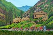 Dusk   Painting by artist Ajay Harit   oil   Canvas
