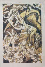 M F Husain | Serigraphs Painting title Untitled on Paper | Artist M F Husain Gallery | ArtZolo.com