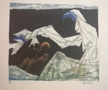 Mother Teresa 1 | Painting by artist M F Husain | serigraphs | Paper
