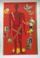Theorema Series 3   Painting by artist M F Husain   serigraphs   Paper