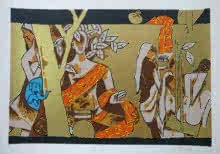 Theorema Series 9 | Painting by artist M F Husain | serigraphs | Paper