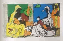 Theorema Series 10 | Painting by artist M F Husain | serigraphs | Paper