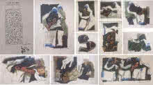 Expressionist Serigraphs Art Painting title Mother Teresa Series of 11 pcs by artist M F Husain