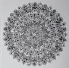 Pen-ink Paintings | Drawing title Design Mandala 1 on Paper | Artist V Pugalenthi