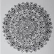 Design Mandala 1 | Drawing by artist V Pugalenthi |  | Pen&Ink | Paper