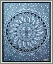Pointillism Mandala | Drawing by artist V Pugalenthi |  | Pen&Ink | Paper