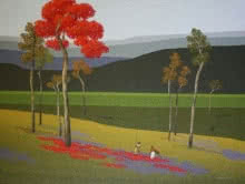 Satish Mane | Oil Painting title Nature 4 on Canvas | Artist Satish Mane Gallery | ArtZolo.com