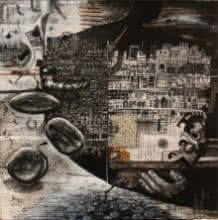 Vikram Nayak | Mixed-media Painting title Resonationg With Me Ii on Canvas | Artist Vikram Nayak Gallery | ArtZolo.com