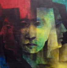 Heads   Painting by artist Vishnu Sonavane   acrylic   Canvas