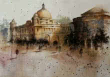 Old Architecture | Painting by artist Atul Gendle | watercolor | Paper